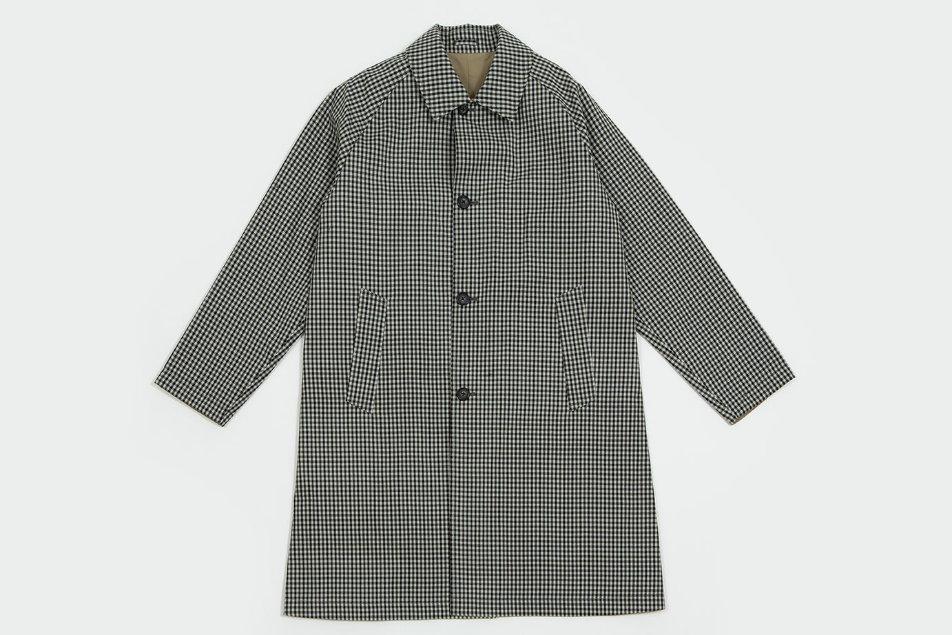 Still by Hand. Reversible coat grey check