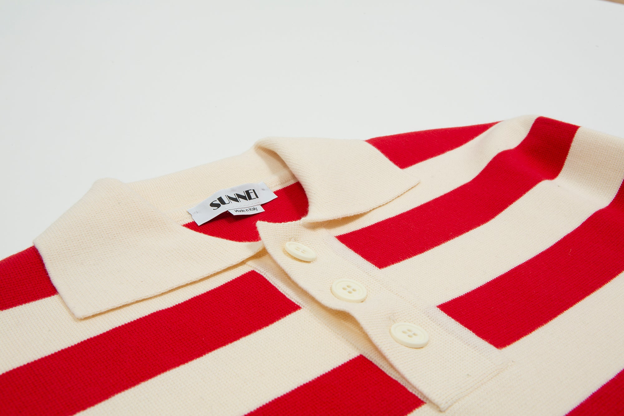 Sunnei. Woven polo shirt red