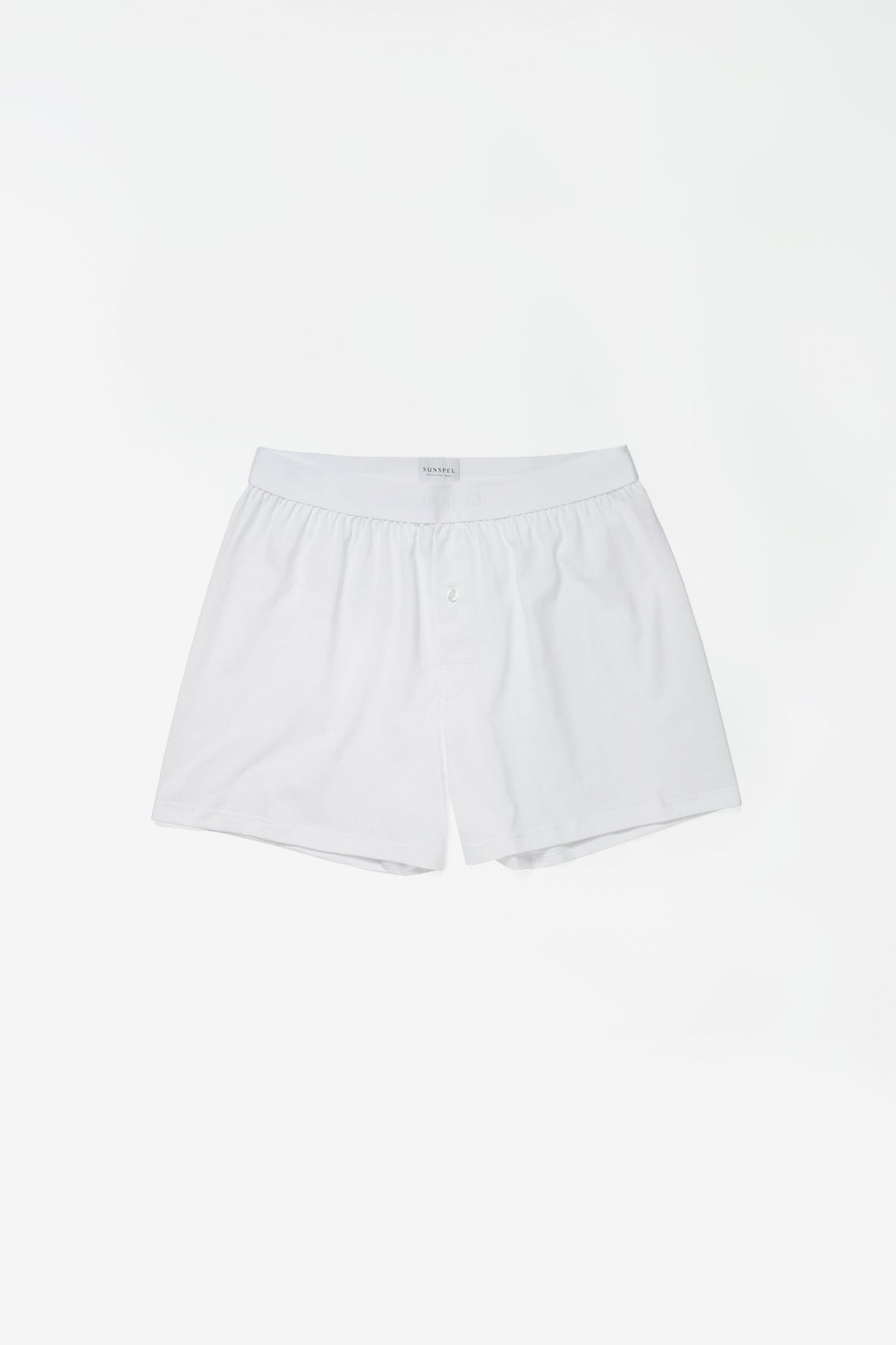 Superfine cotton 1 button short white