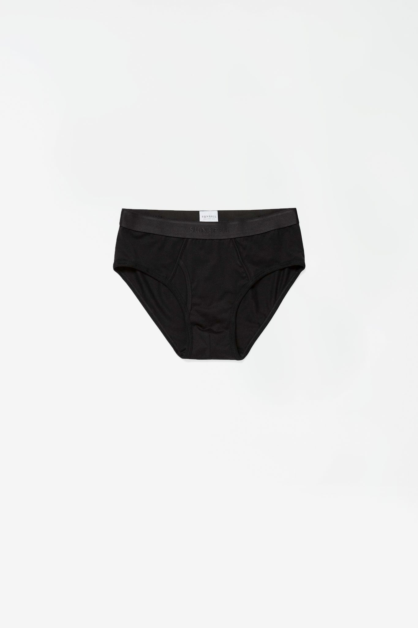 Superfine cotton brief black