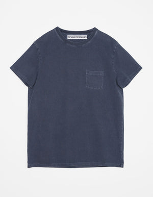 T-shirt jersey garment dyed mood indigo