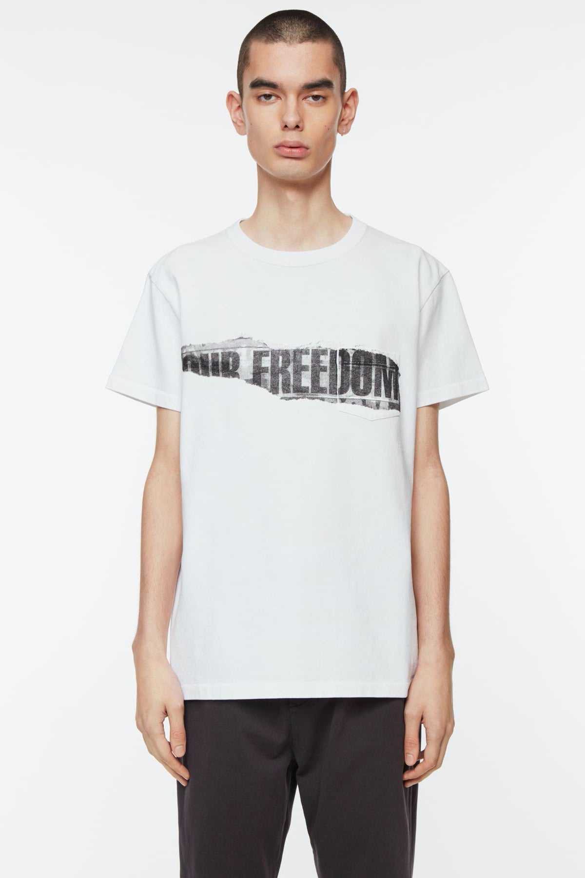 T-shirt freedom print white