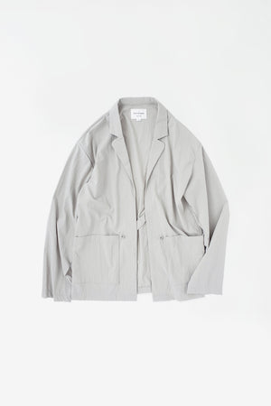 Tab closure jacket grey