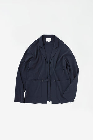 Tab closure jacket navy