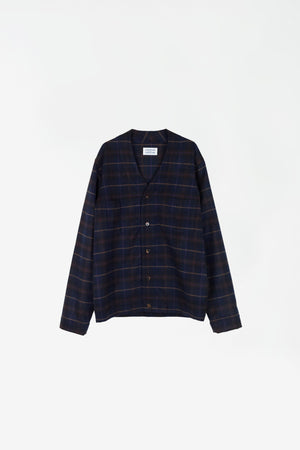 Threat overshirt purple check
