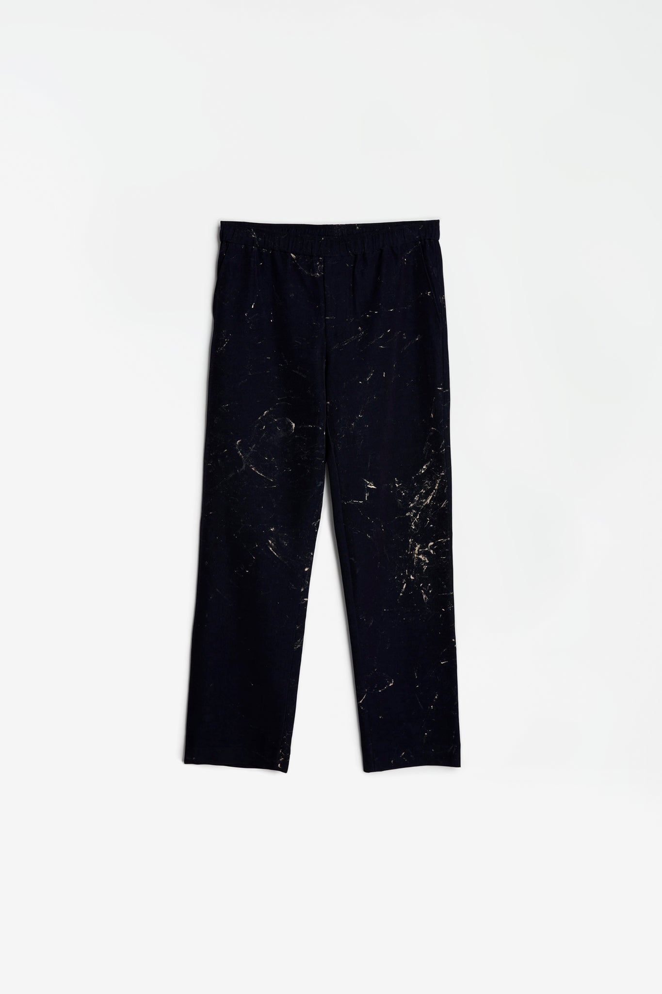 Trousers hand painted navy