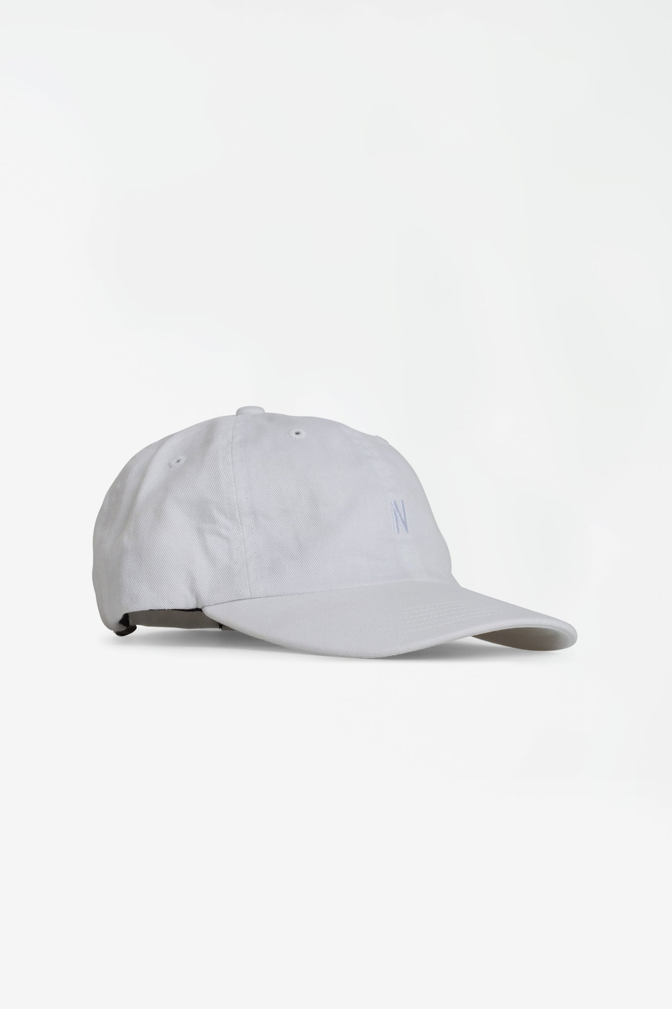 Twill sports cap white