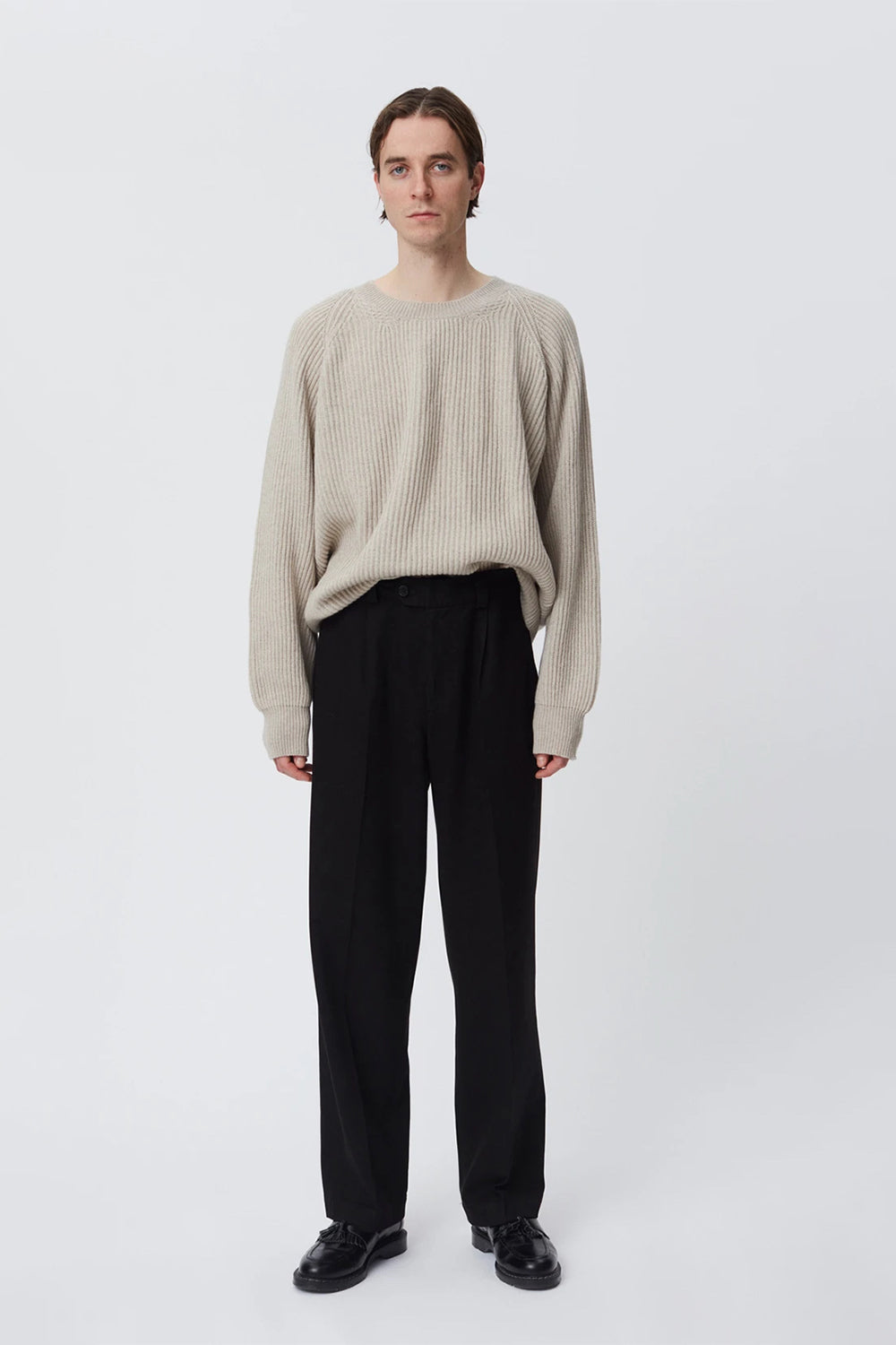 Twill trousers black