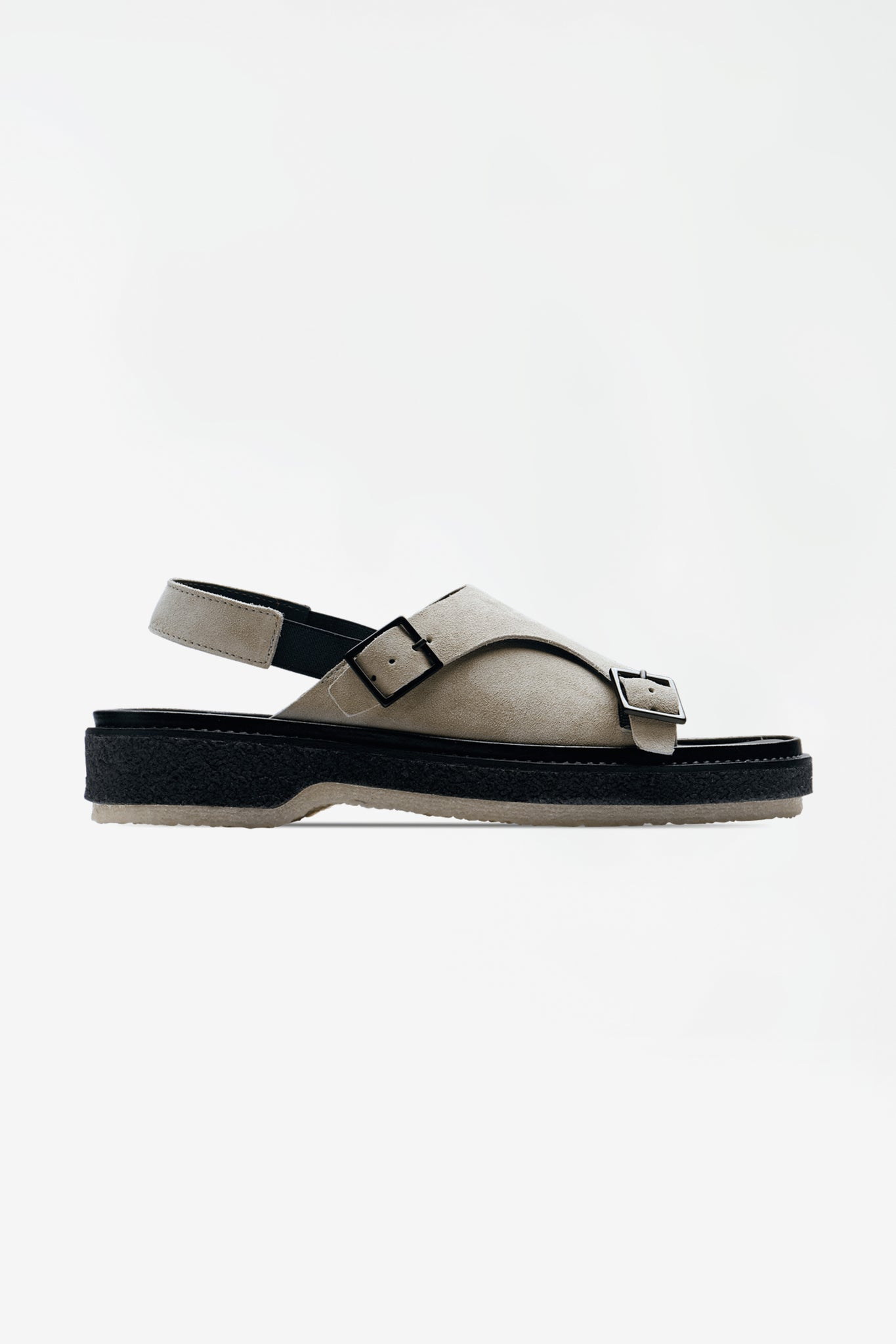 Type 140 suede calf grey sandals