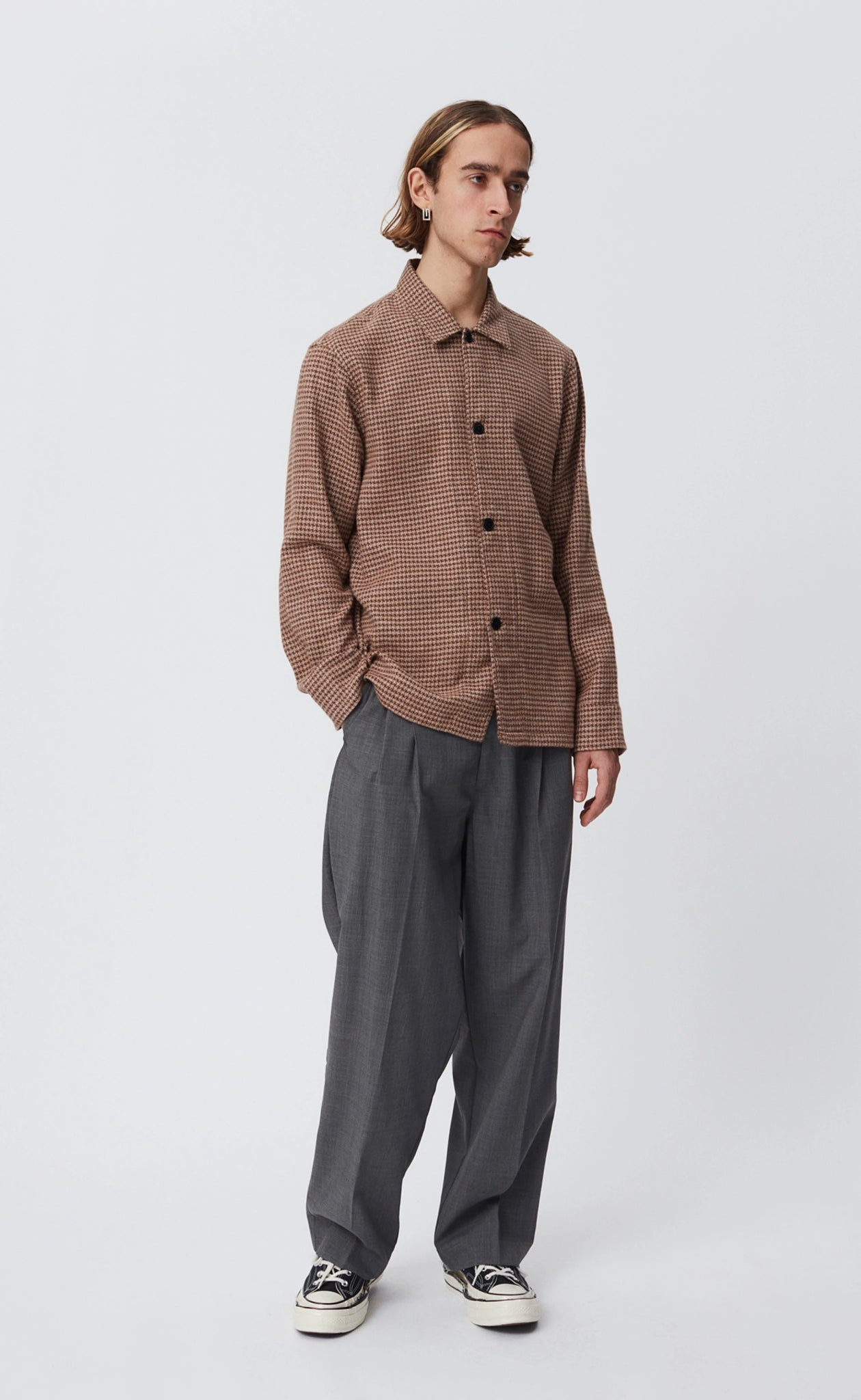 Type overshirt brown check