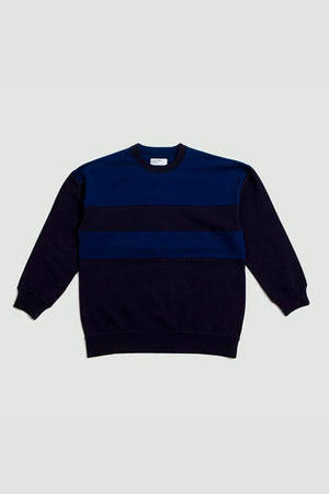 Loopback panel sweatshirt blues