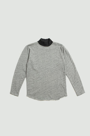 Stay mock neck tee grey