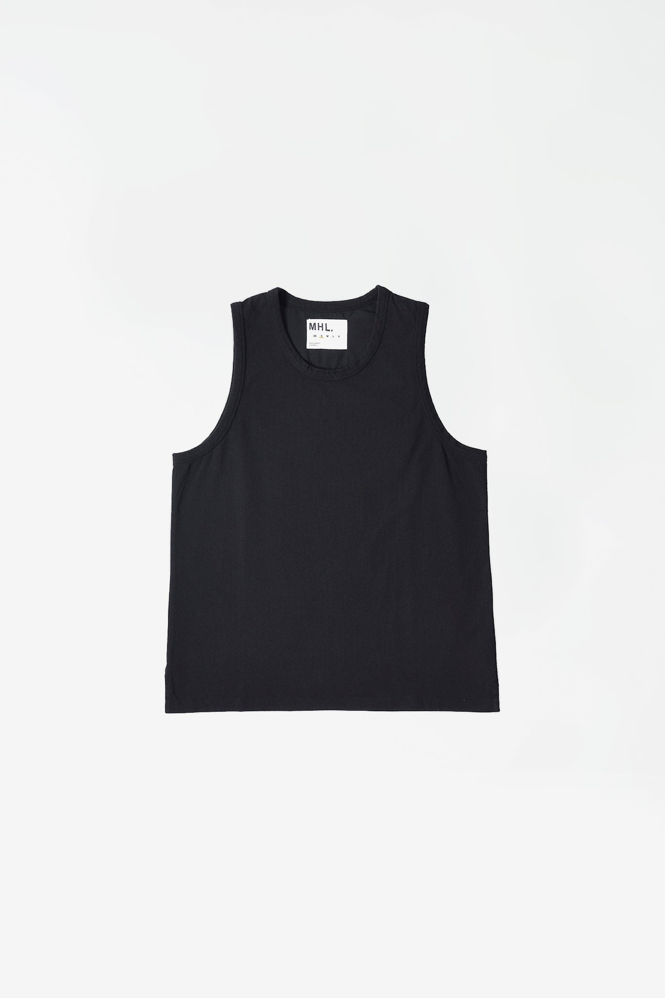 Vest heavy cotton jersey black