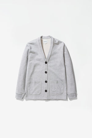 Vidar sweat cardigan light grey