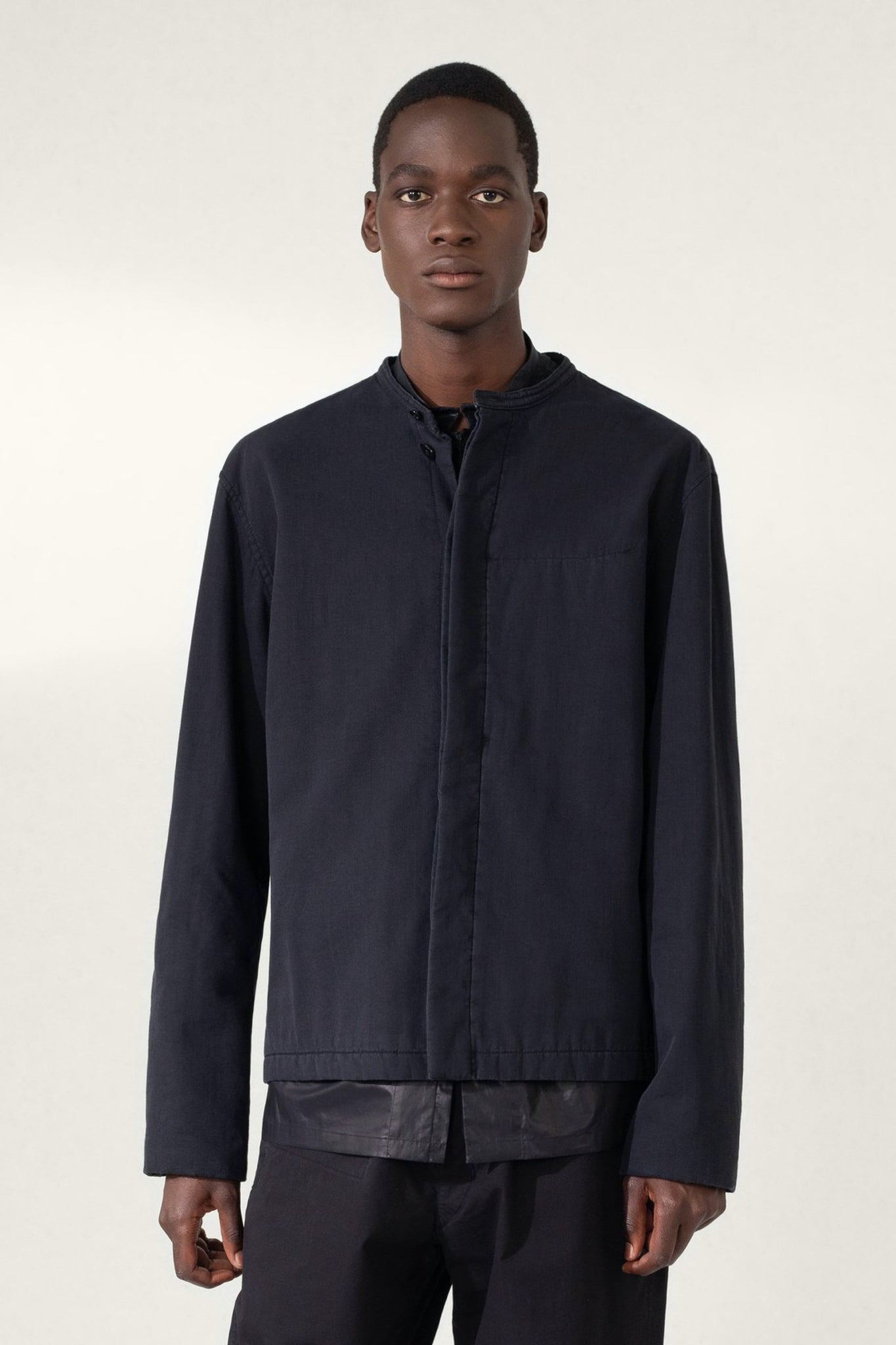 Wadded blouson anthracite