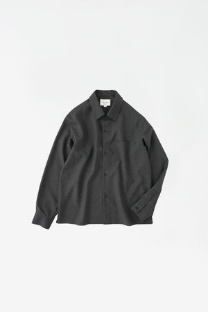 Washable wool shirt charcoal