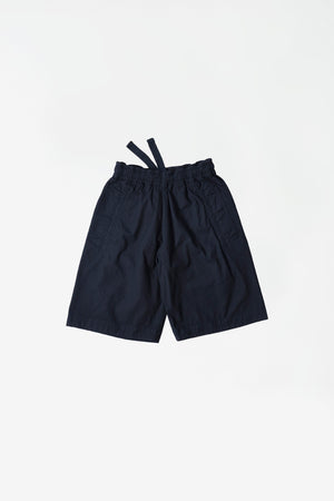 Wide leg jogger short ink