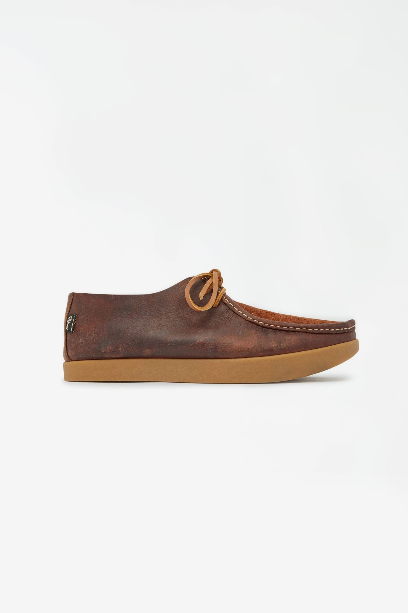 Willard reverse vamp shoe brown