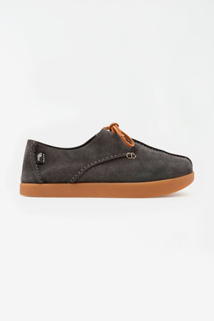 Lennon suede charcoal
