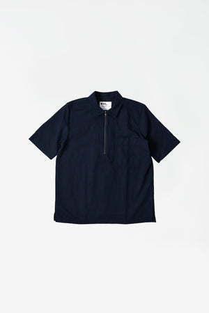 Zip fly shirt cotton linen ink