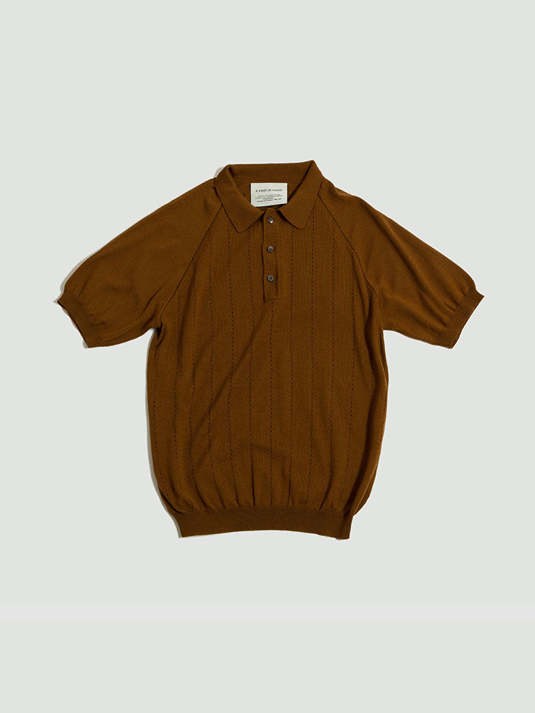 A Kind of Guise. Baccara knit polo brown