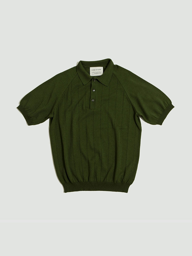 A Kind of Guise. Baccara knit polo olive