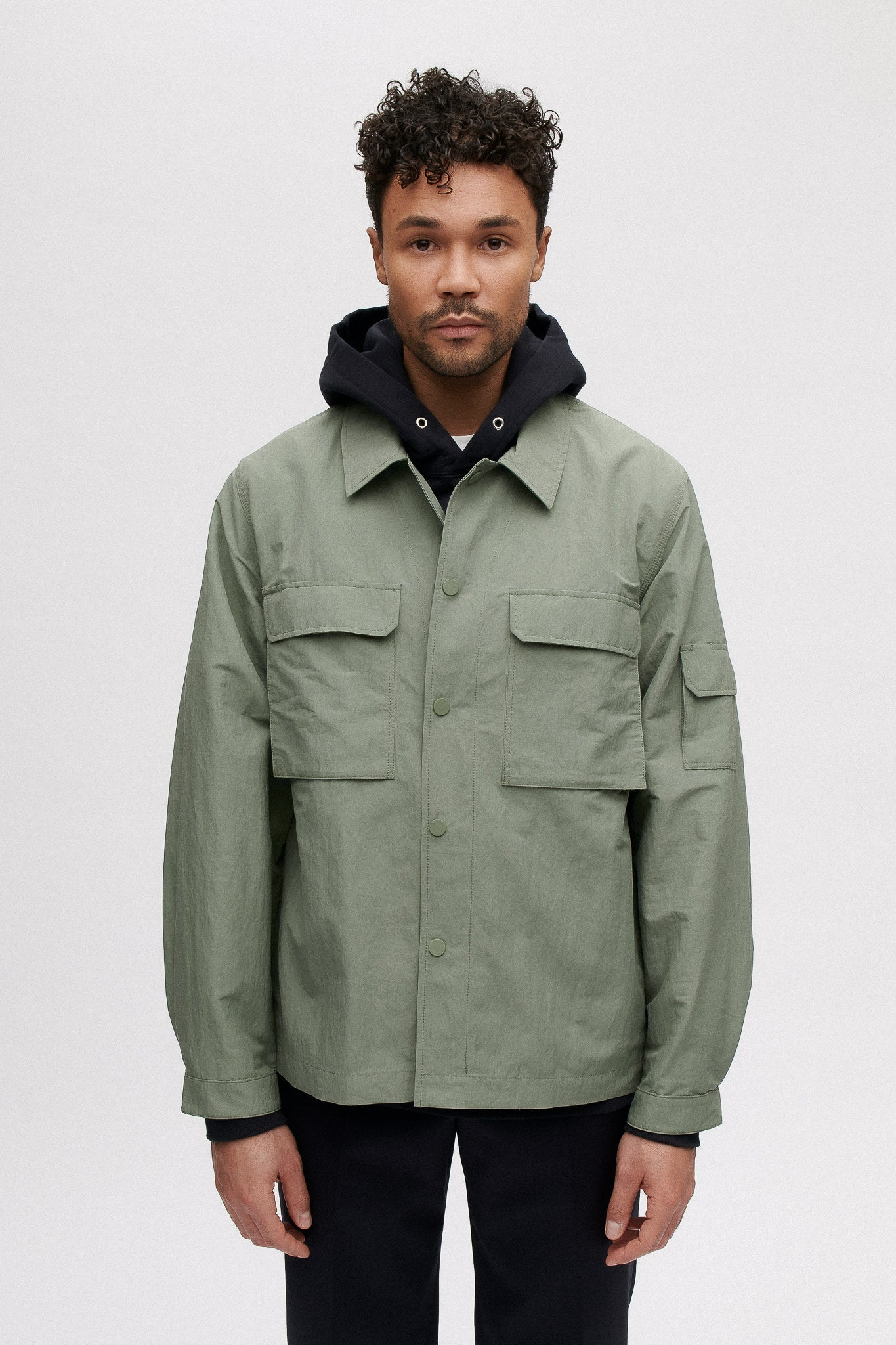 Clyde shirt jacket aloe