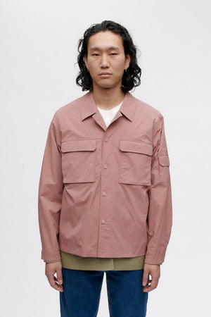Clyde shirt jacket dusty rose