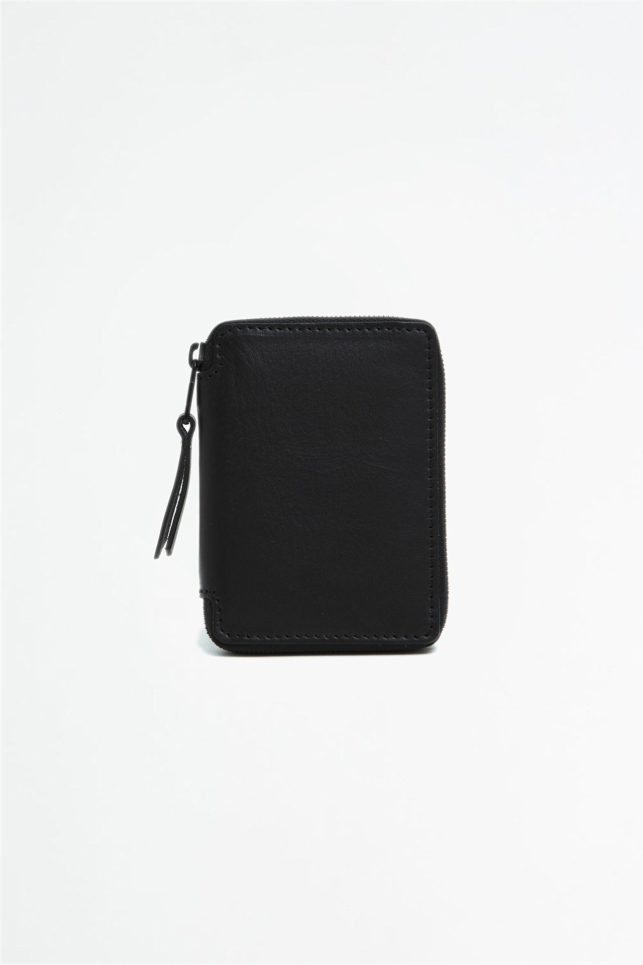 Small zipped wallet black and green