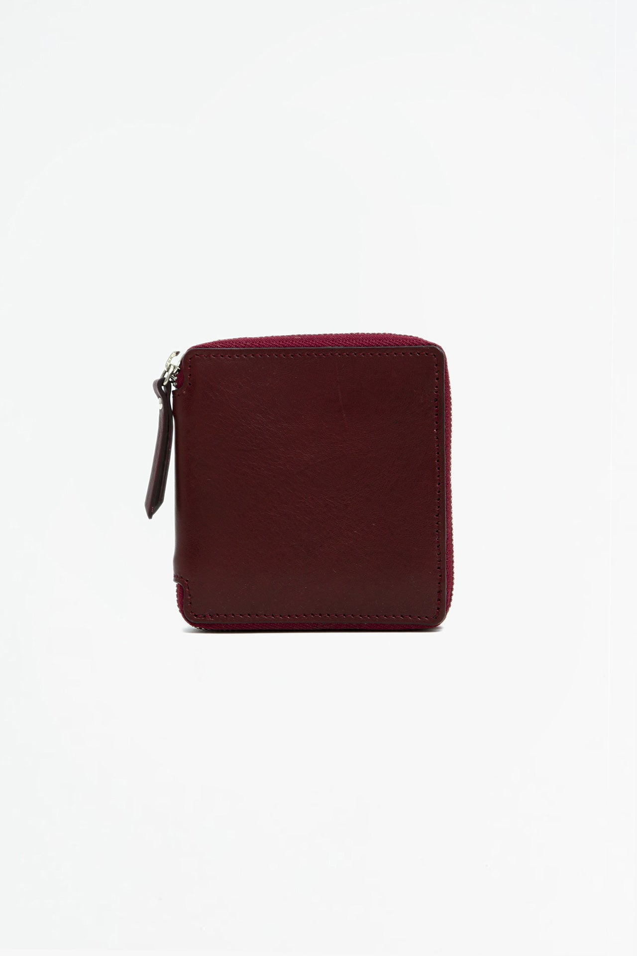 Big zipped wallet burgundy