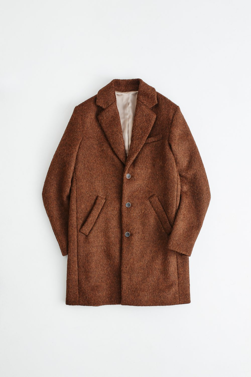 Don Carlo coat brown melange