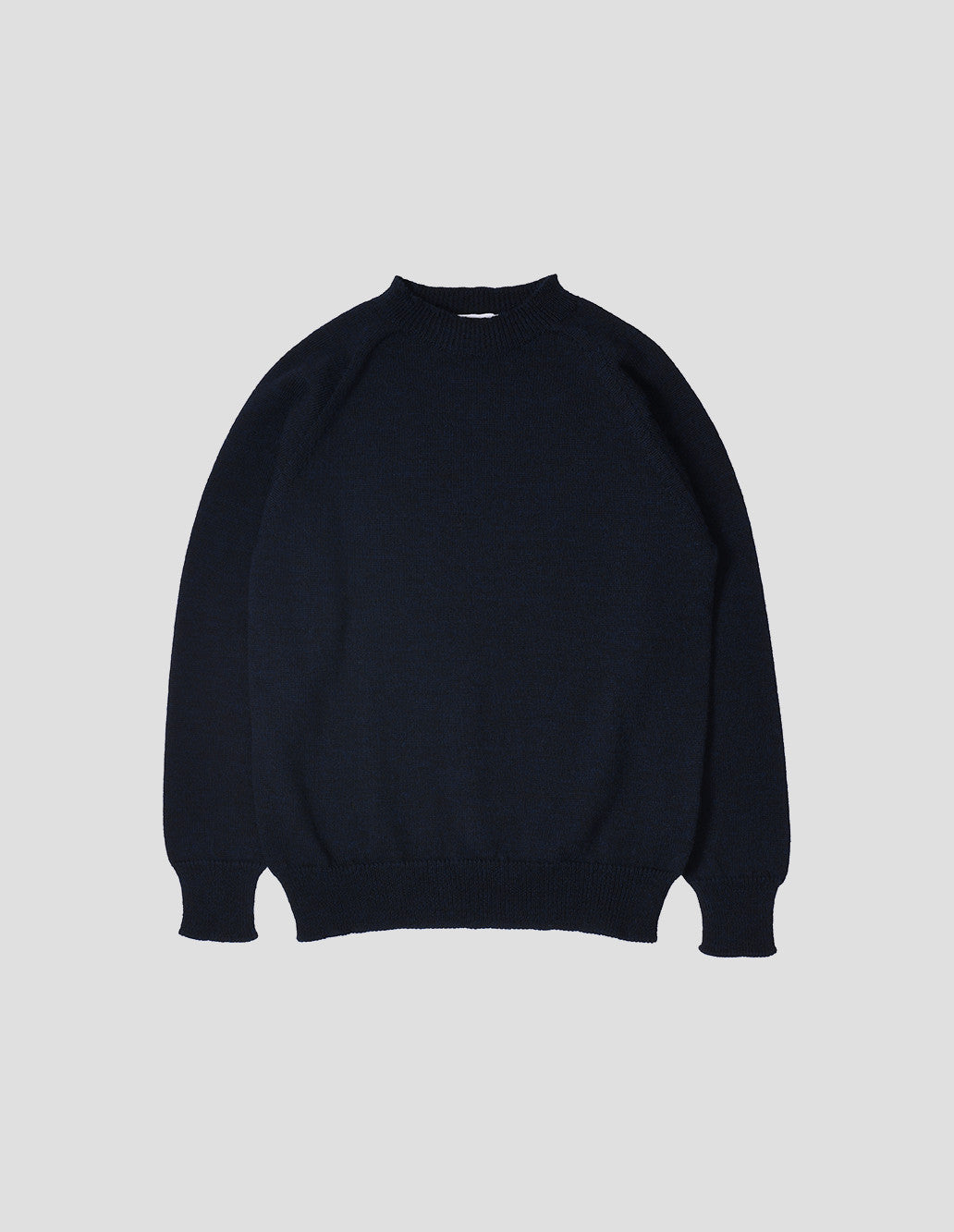 Crew neck dry merino dark navy