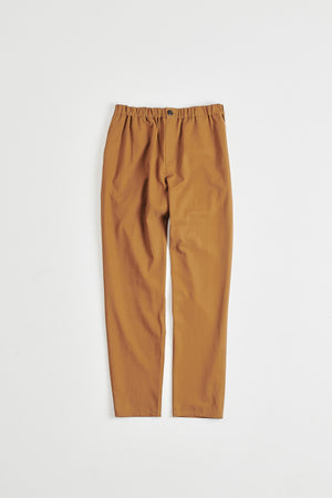 Elasticated wide trousers brown