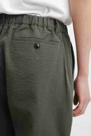 Elasticated wide trousers olive
