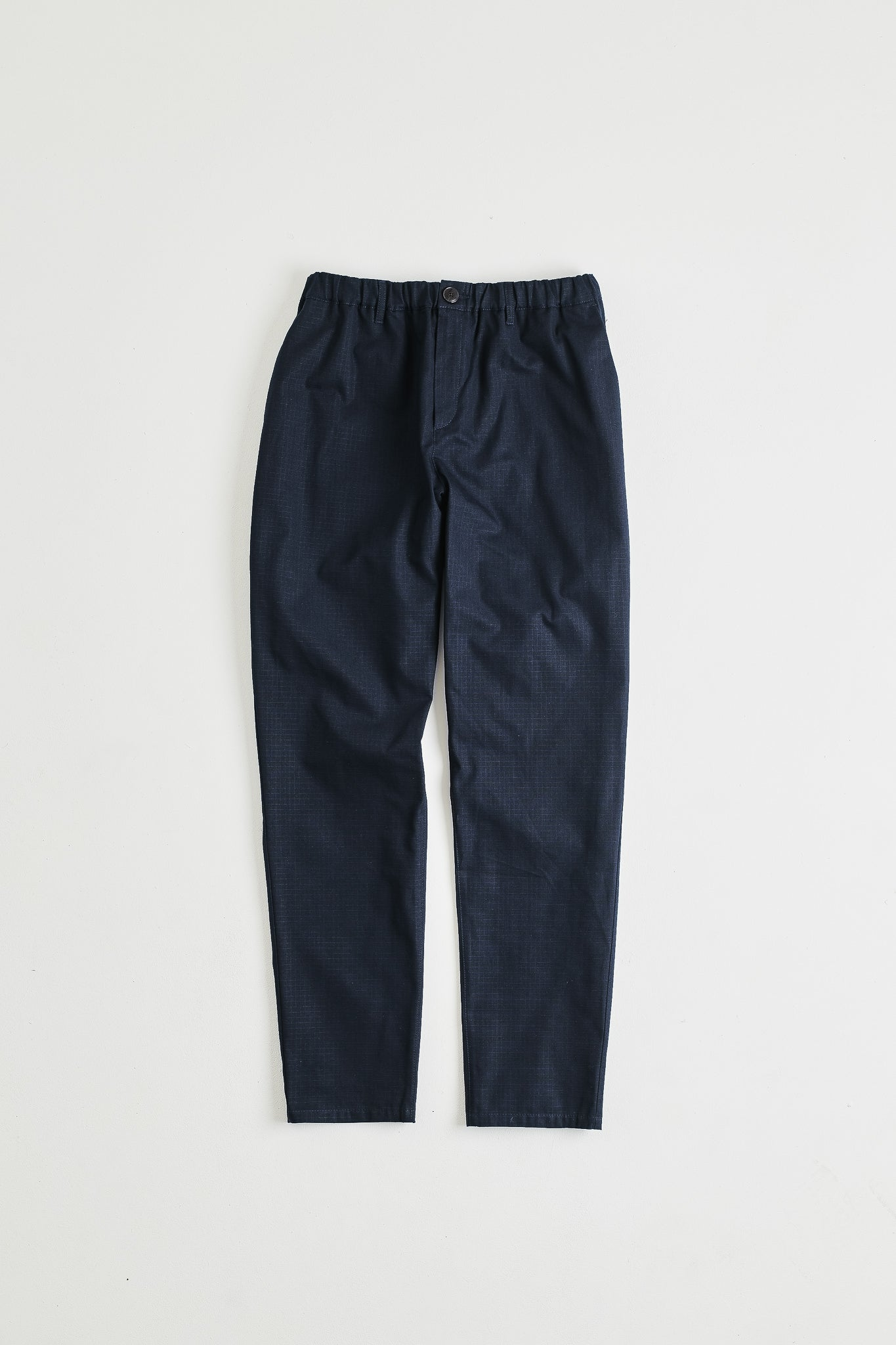 Elasticated wide trousers structured navy