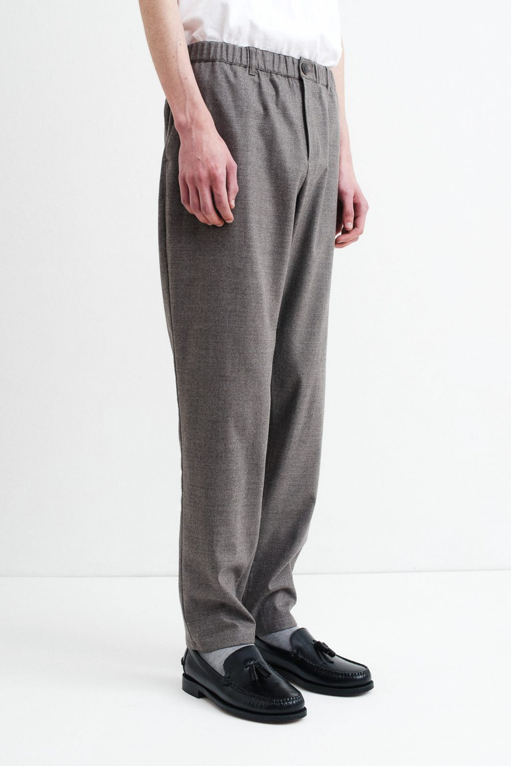 Elasticated Wide trousers warm grey