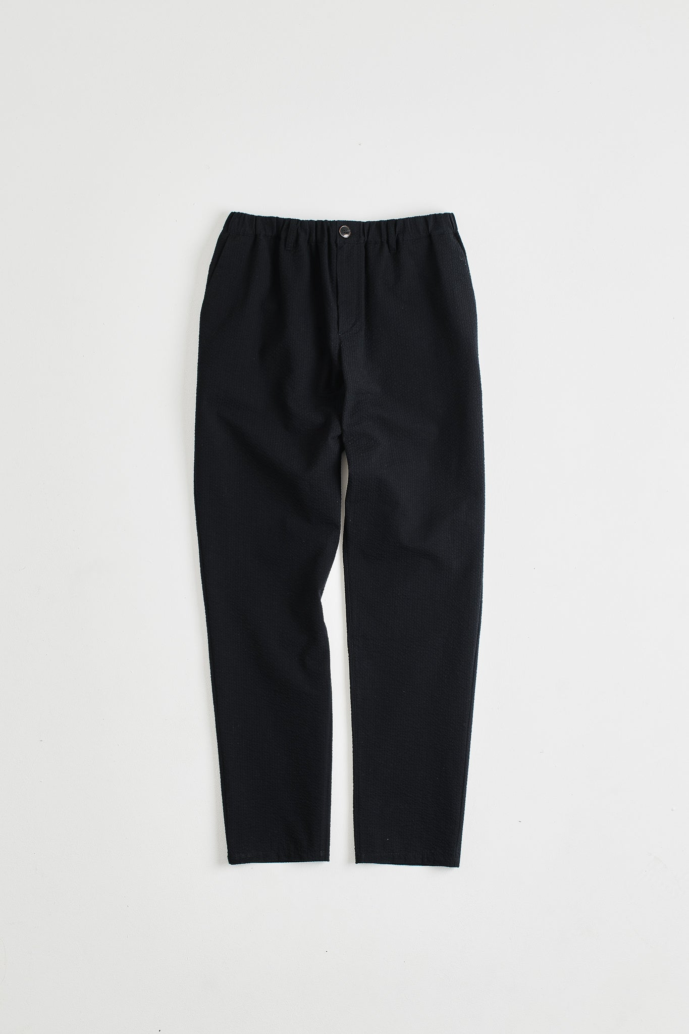 Elasticated wide trousers black