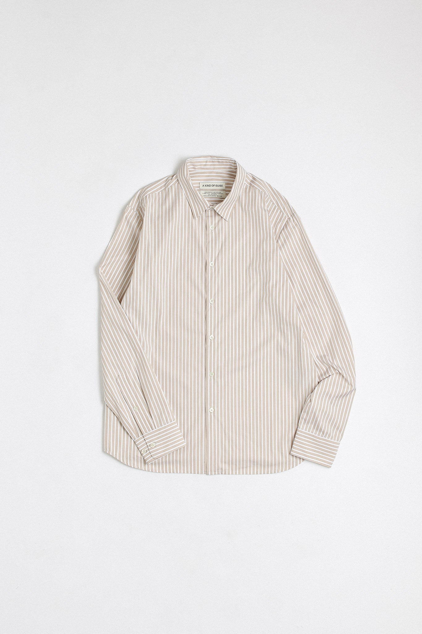 Flores shirt tobacco stripe