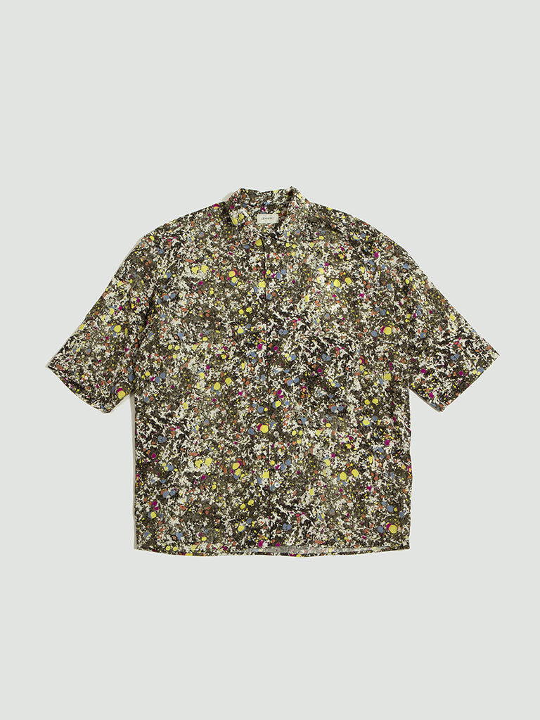 Lemaire. Convertible collar shirt multi