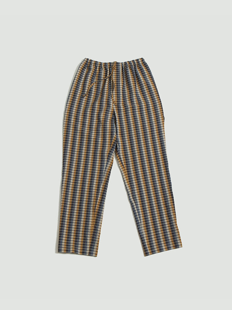 Lemaire. Elasticated pants cotton seersucker mustard