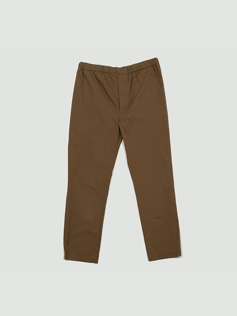 Lemaire. Large elasticated pants tobacco