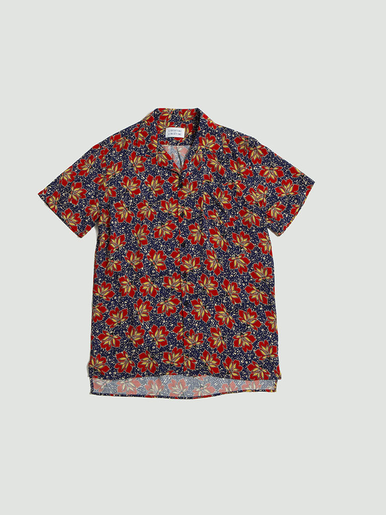 Libertine Libertine. Cave S/S shirt red lotus