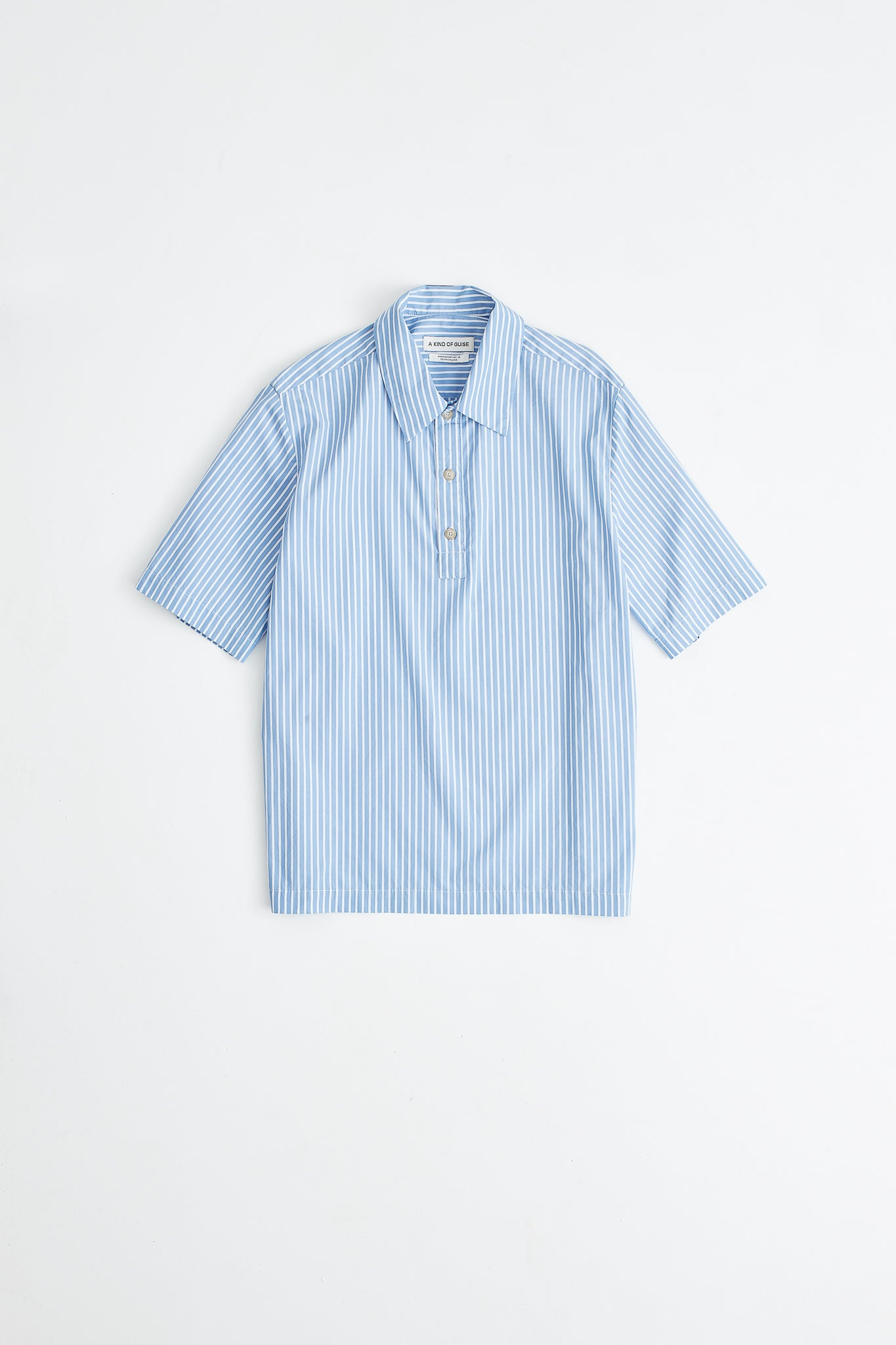 Lino Shirt blue stripe