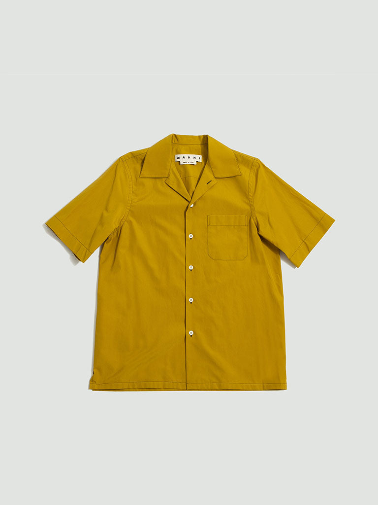 Marni. Cotton poplin shirt mustard