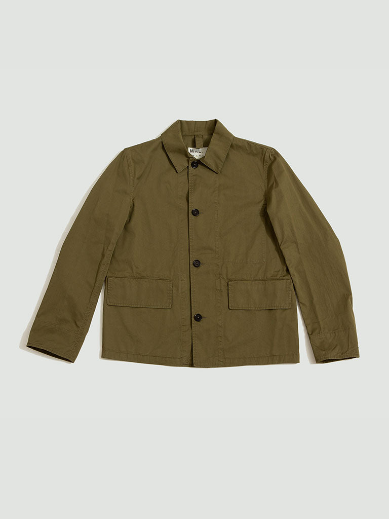 Margaret Howell. Flap pocket jacket army green