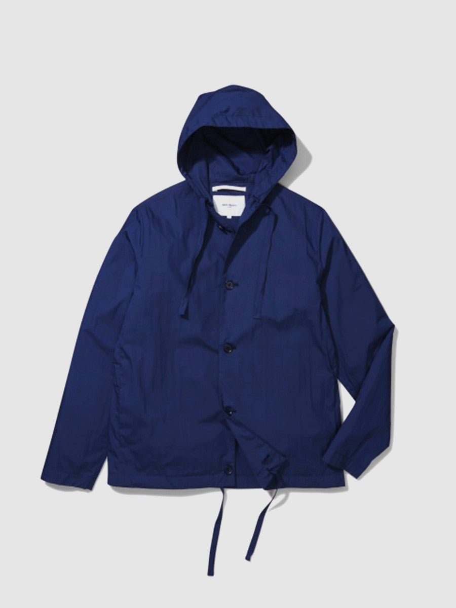 Compound blue Daniel Poplin by Norse Projects. Blue jacket