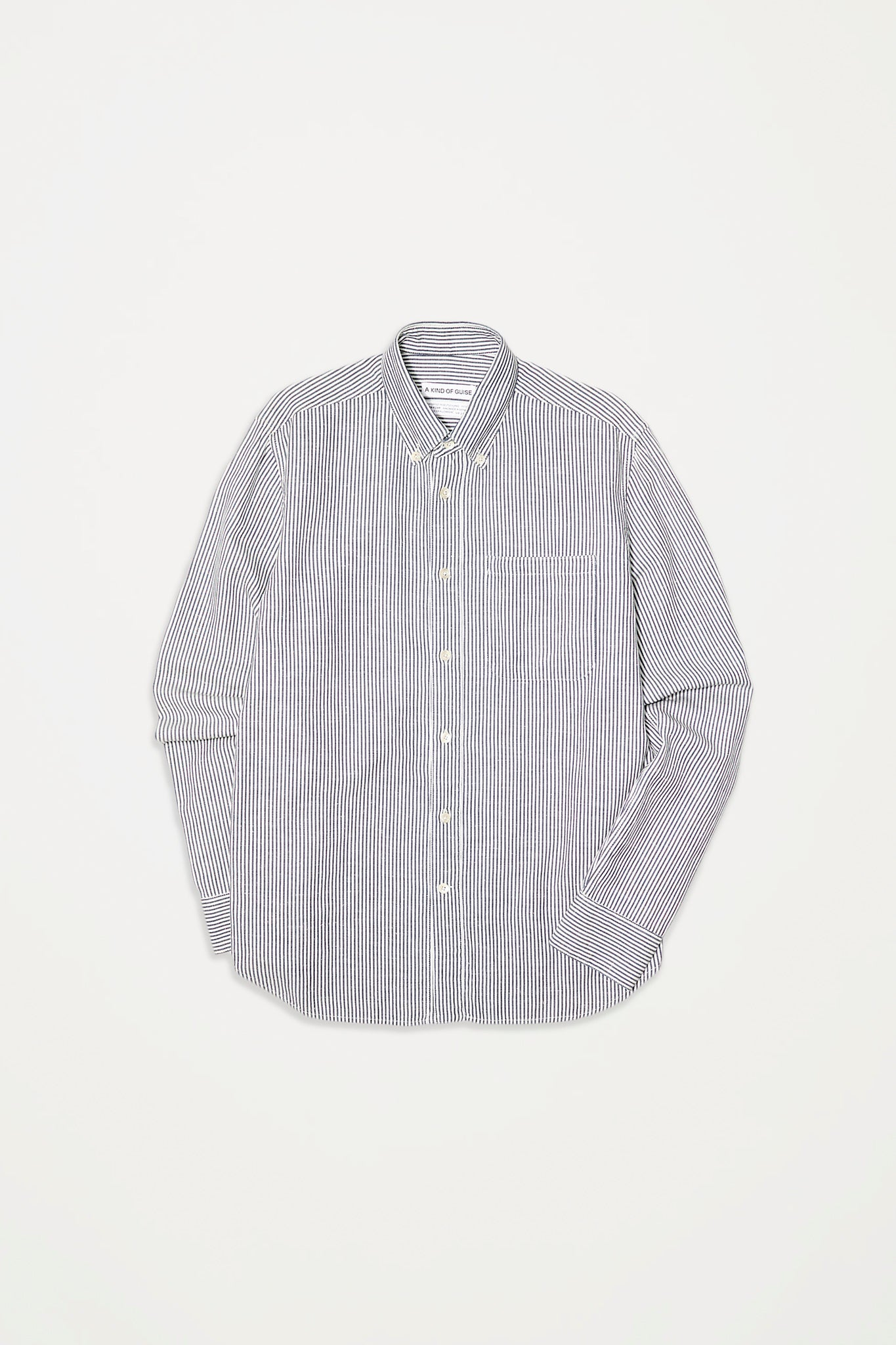 Permanents button down shirt fine stripes