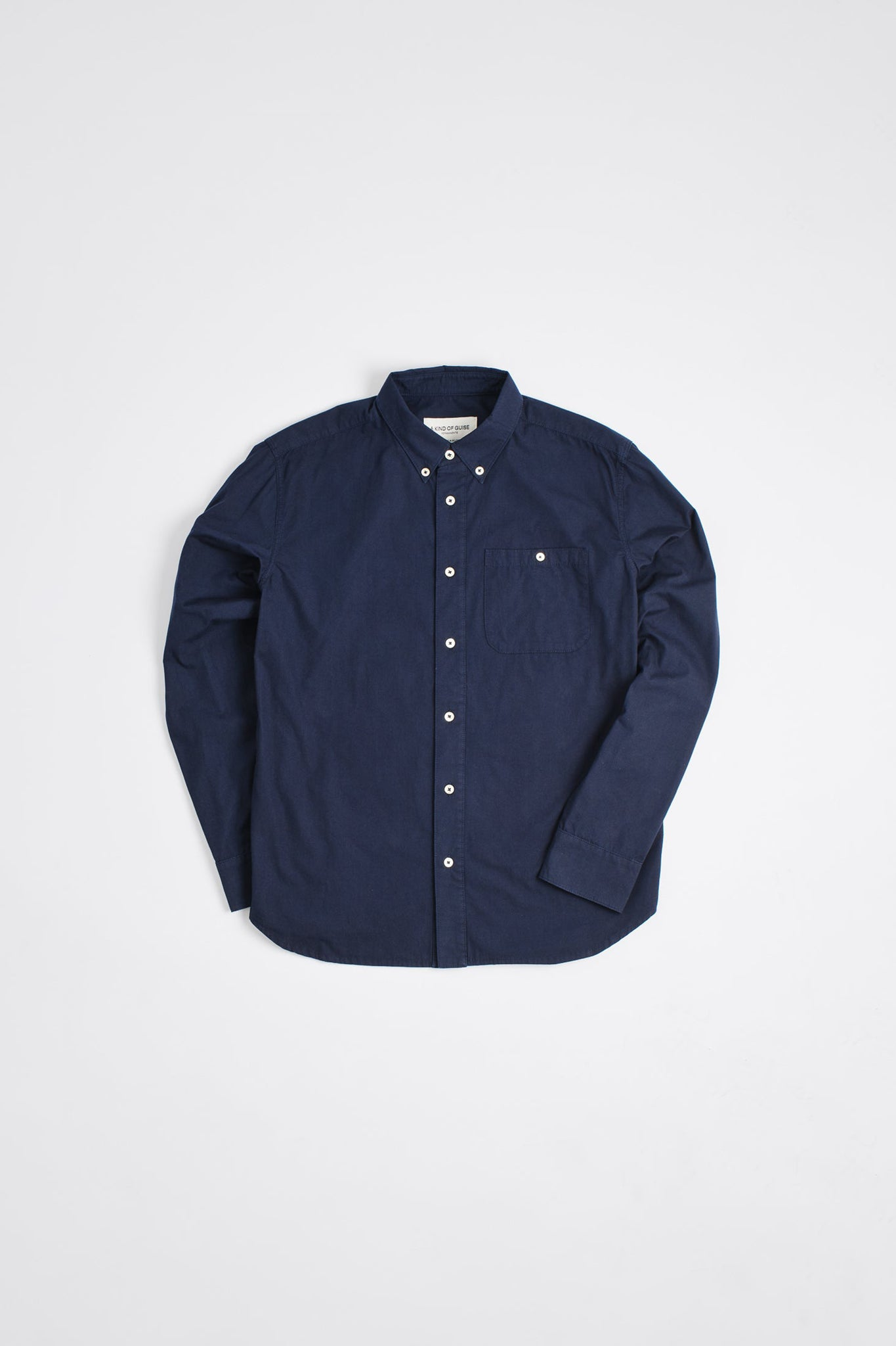 Permanents button down shirt washed navy