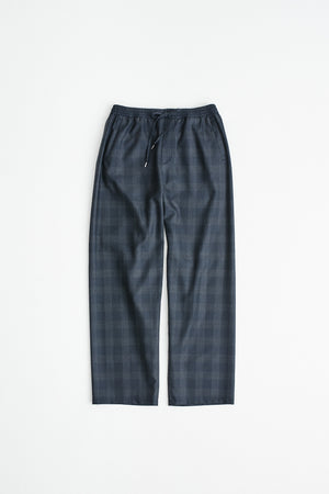 Samurai trousers wool dark check