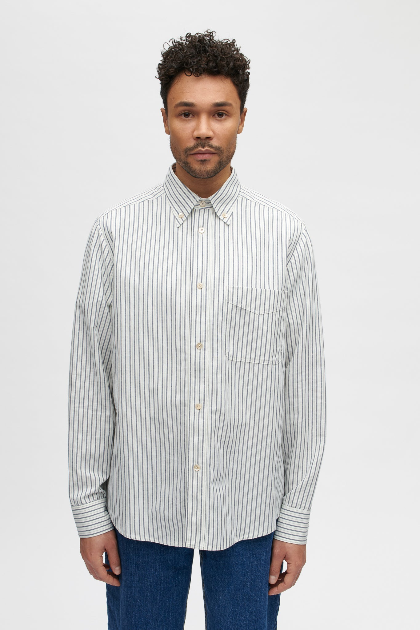 Seaton button down shirt finnish stripe